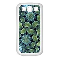Blue Lotus Samsung Galaxy S3 Back Case (white)