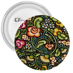 Bohemia Floral Pattern 3  Buttons