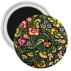 Bohemia Floral Pattern 3  Magnets
