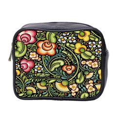 Bohemia Floral Pattern Mini Toiletries Bag 2 Side