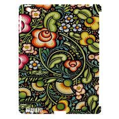 Bohemia Floral Pattern Apple Ipad 3/4 Hardshell Case (compatible With Smart Cover)