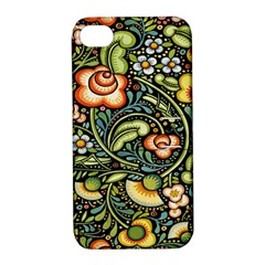 Bohemia Floral Pattern Apple Iphone 4/4s Hardshell Case With Stand