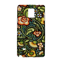 Bohemia Floral Pattern Samsung Galaxy Note 4 Hardshell Case