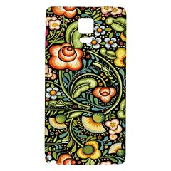 Bohemia Floral Pattern Galaxy Note 4 Back Case