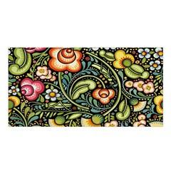 Bohemia Floral Pattern Satin Shawl