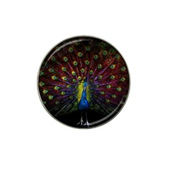 Beautiful Peacock Feather Hat Clip Ball Marker (4 Pack)