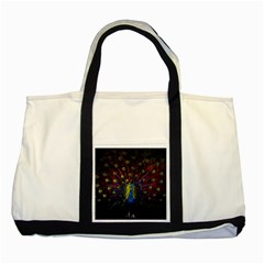 Beautiful Peacock Feather Two Tone Tote Bag