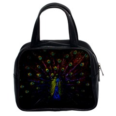 Beautiful Peacock Feather Classic Handbags (2 Sides)