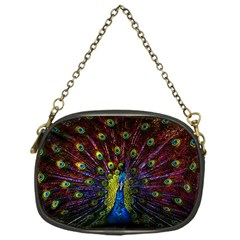 Beautiful Peacock Feather Chain Purses (one Side)
