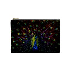 Beautiful Peacock Feather Cosmetic Bag (medium)