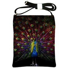 Beautiful Peacock Feather Shoulder Sling Bags