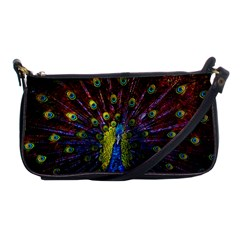 Beautiful Peacock Feather Shoulder Clutch Bags