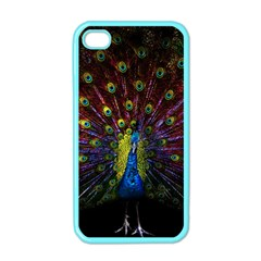 Beautiful Peacock Feather Apple Iphone 4 Case (color)