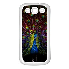 Beautiful Peacock Feather Samsung Galaxy S3 Back Case (white)