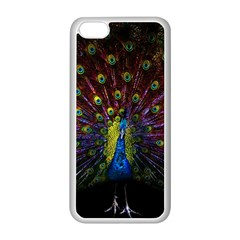 Beautiful Peacock Feather Apple Iphone 5c Seamless Case (white)