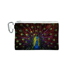 Beautiful Peacock Feather Canvas Cosmetic Bag (s)