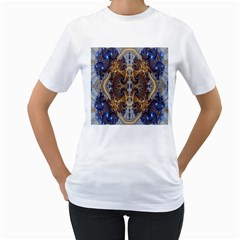 Baroque Fractal Pattern Women s T Shirt (white) (two Sided)