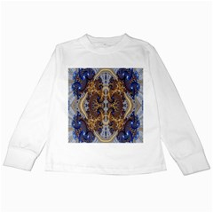 Baroque Fractal Pattern Kids Long Sleeve T Shirts