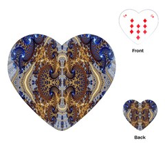 Baroque Fractal Pattern Playing Cards (heart)