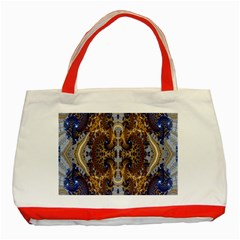 Baroque Fractal Pattern Classic Tote Bag (red)