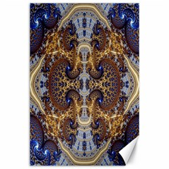 Baroque Fractal Pattern Canvas 24  X 36