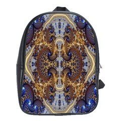Baroque Fractal Pattern School Bags(large)