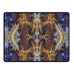 Baroque Fractal Pattern Fleece Blanket (small)