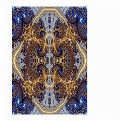 Baroque Fractal Pattern Small Garden Flag (two Sides)