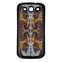 Baroque Fractal Pattern Samsung Galaxy S3 Back Case (black)