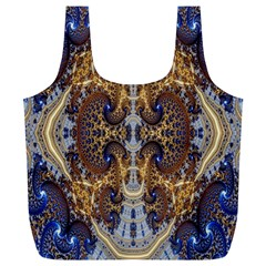 Baroque Fractal Pattern Full Print Recycle Bags (l)