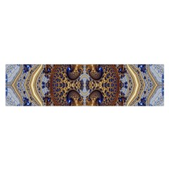Baroque Fractal Pattern Satin Scarf (oblong)