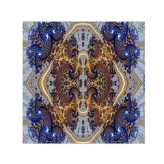 Baroque Fractal Pattern Small Satin Scarf (square)