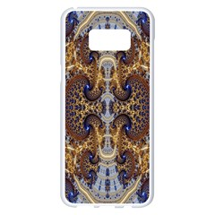 Baroque Fractal Pattern Samsung Galaxy S8 Plus White Seamless Case