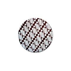 Batik Art Patterns Golf Ball Marker (4 Pack)