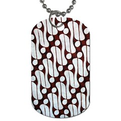 Batik Art Patterns Dog Tag (two Sides)