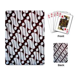 Batik Art Patterns Playing Card