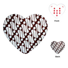 Batik Art Patterns Playing Cards (heart)