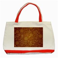 Batik Art Pattern Classic Tote Bag (red)