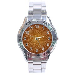 Batik Art Pattern Stainless Steel Analogue Watch