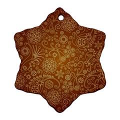 Batik Art Pattern Snowflake Ornament (two Sides)