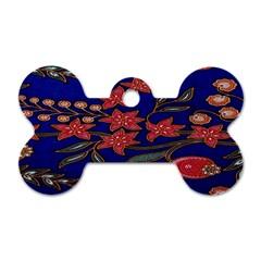 Batik  Fabric Dog Tag Bone (one Side)