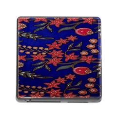 Batik  Fabric Memory Card Reader (square)