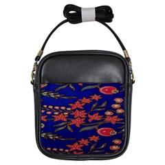 Batik  Fabric Girls Sling Bags