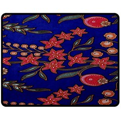 Batik  Fabric Fleece Blanket (medium)