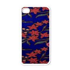 Batik  Fabric Apple Iphone 4 Case (white)