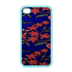 Batik  Fabric Apple Iphone 4 Case (color)
