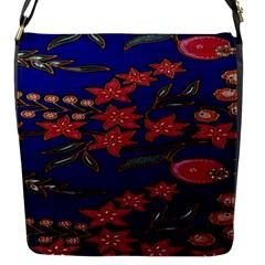Batik  Fabric Flap Messenger Bag (s)