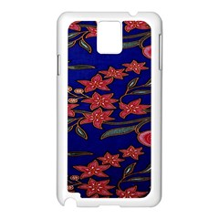 Batik  Fabric Samsung Galaxy Note 3 N9005 Case (white)