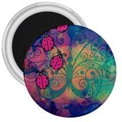 Background Colorful Bugs 3  Magnets