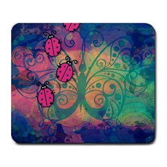 Background Colorful Bugs Large Mousepads